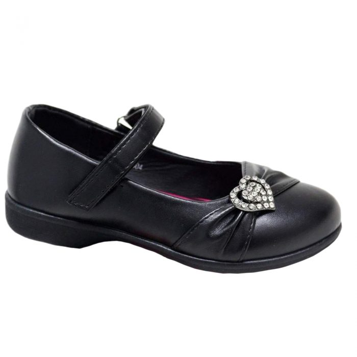 Girls school shoes Kenyon Love Heart Matt