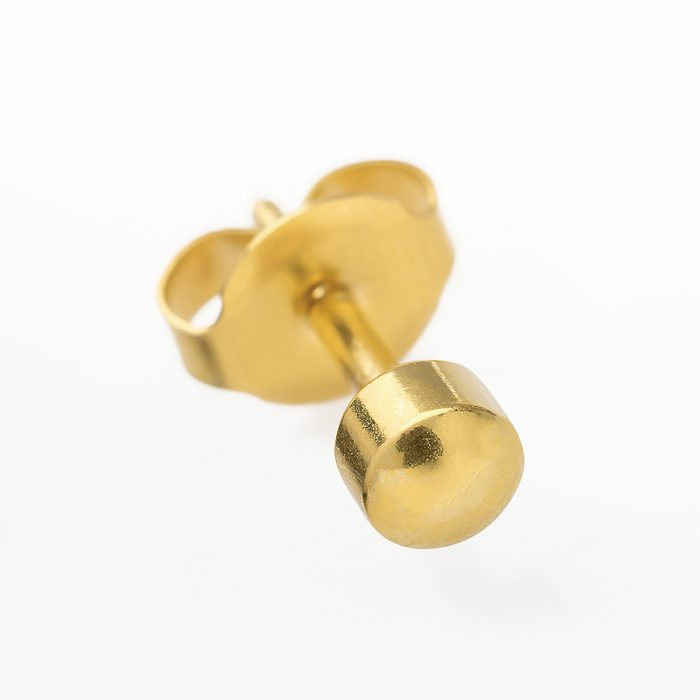 BRAND NEW EAR PIERCING STUDS EARRINGS STUD-Gold Blank