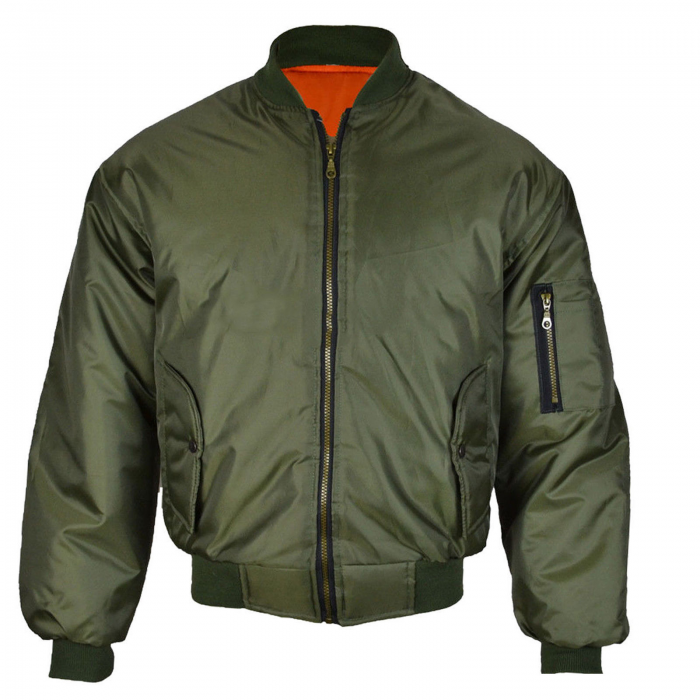 JACKET WINTER BIKER MA1 BOMBER-olive-green