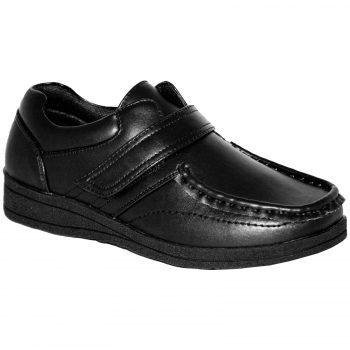 BOYS SCHOOL SINGLE VELCRO LOW TOP SHOES