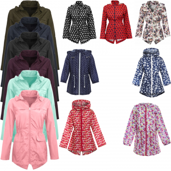 GIRLS LIGHTWEIGHT HOODED RAIN MAC