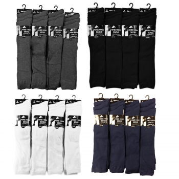 12 PAIRS GIRLS PLAIN KNEE HIGH SOCKS