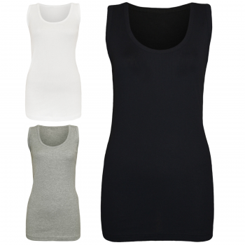 2 PACK WOMEN'S PLAIN SUMMER VEST