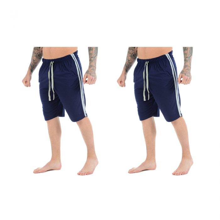Lounge 3 Quarters Main 2 Pack Navy