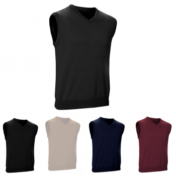 MEN'S V NECK SLEEVELESS JUMPER