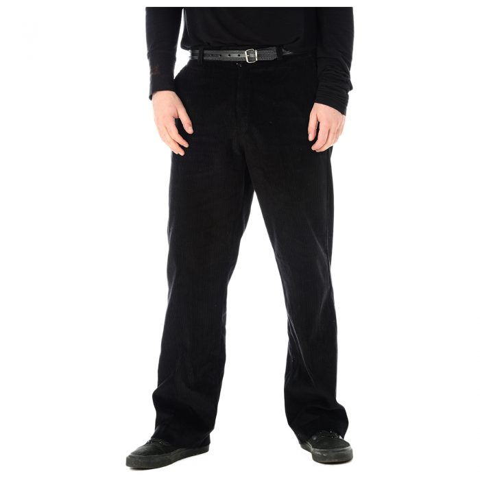 Mens Corduroy Trousers Black 1