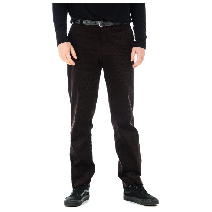 Mens Corduroy Trousers Brown 1