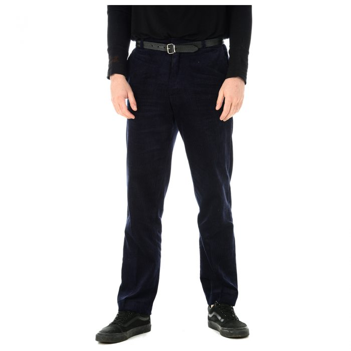 Mens Corduroy Trousers Navy 1