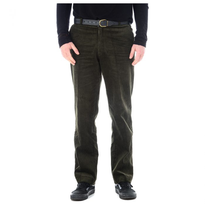 Mens Corduroy Trousers Olive 1