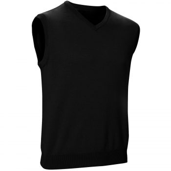 Mens Sleeveless Jumpers Black