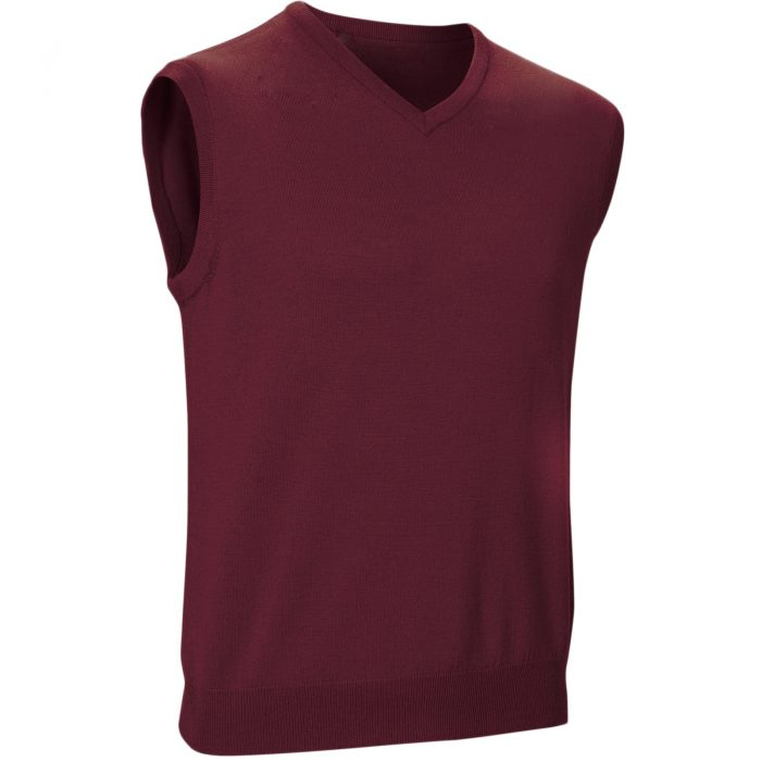 Mens Sleeveless Jumpers wine