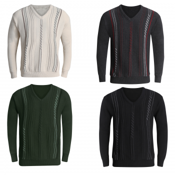 MEN'S V NECK LONG SLEEVES JUMPER