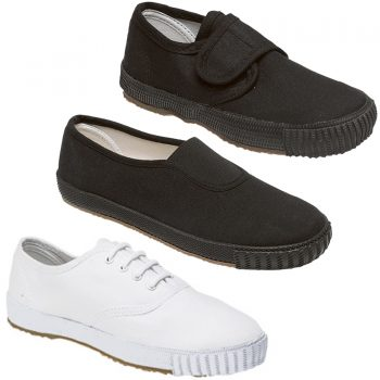 BOYS GIRLS UNISEX SCHOOL PE PUMPS SHOES