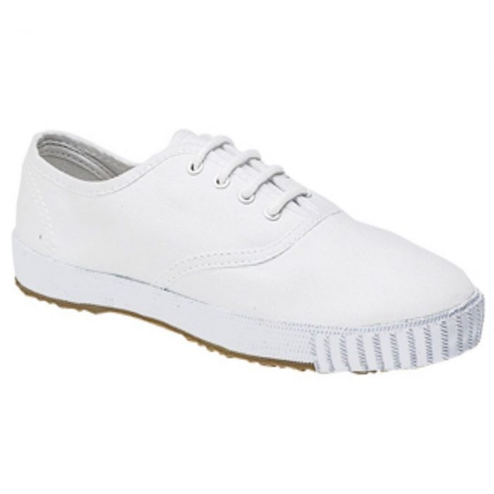 BOYS GIRLS UNISEX SCHOOL PE PUMPS-white-Lace-Up