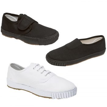 PACK OF 2 UNISEX SCHOOL PE PUMPS SHOES