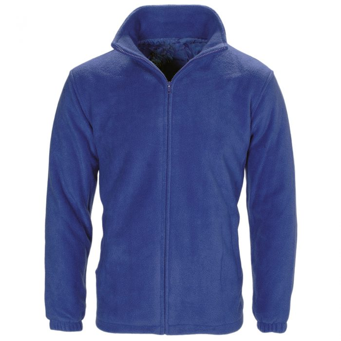 MENS WOMEN LADIES UNISEX POLAR POLO FLEECE JACKET ANTI PILL MICRO WORK COAT TOP -Polo Fleece ROYAL Blue