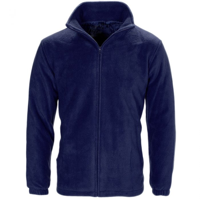 MENS WOMEN LADIES UNISEX POLAR POLO FLEECE JACKET ANTI PILL MICRO WORK COAT TOP - Polo Fleece navy