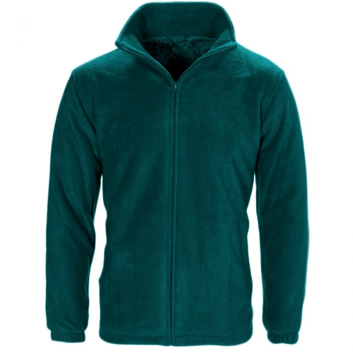 MENS WOMEN LADIES UNISEX POLAR POLO FLEECE JACKET ANTI PILL MICRO WORK COAT TOP - Polo Fleece partrol green