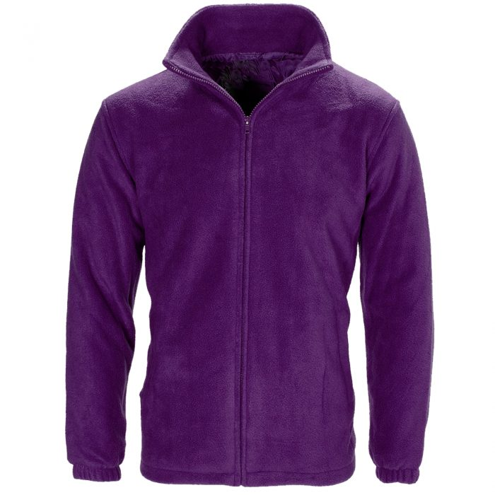 MENS WOMEN LADIES UNISEX POLAR POLO FLEECE JACKET ANTI PILL MICRO WORK COAT TOP Fleece purple