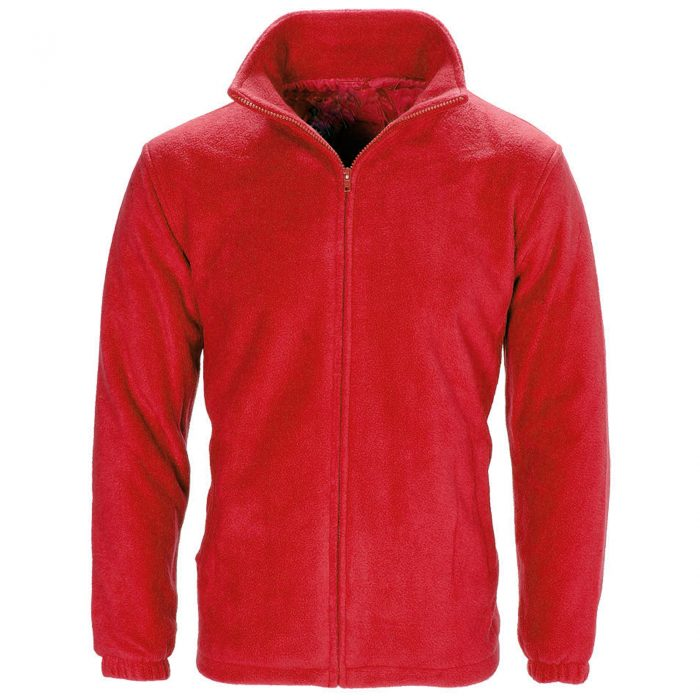 MENS WOMEN LADIES UNISEX POLAR POLO FLEECE JACKET ANTI PILL MICRO WORK COAT TOP Polo Fleece royal Red