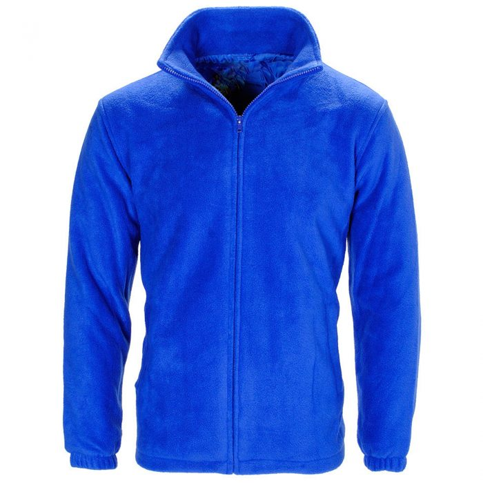 MENS WOMEN LADIES UNISEX POLAR POLO FLEECE JACKET ANTI PILL MICRO WORK COAT TOP Polo Fleece royal blue