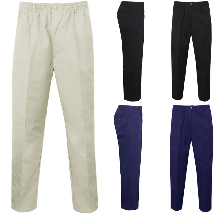 MENS RUGBY FULL ELASTICATED WAIST TROUSERS