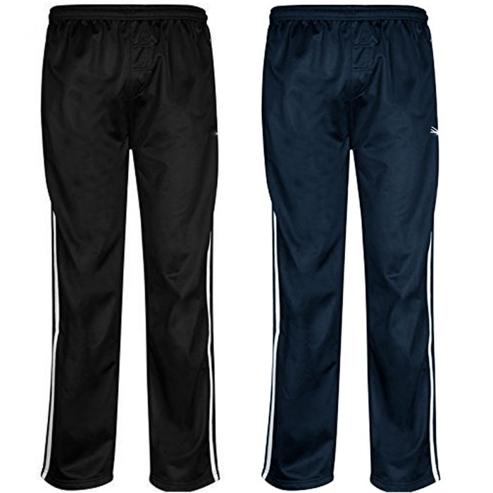 MENS TRACKSUIT BOTTOMS SILKY JOGGERS JOGGING STRIPED TROUSERS