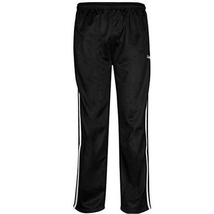 MENS TRACKSUIT BOTTOMS SILKY JOGGERS JOGGING STRIPED TROUSERS-Silky Bottom Black