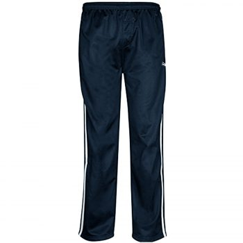 MENS TRACKSUIT BOTTOMS SILKY JOGGERS JOGGING STRIPED TROUSERS Silky Bottom Navy