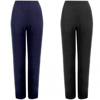2 PACKS LADIES STRAIGHT LEG TROUSERS