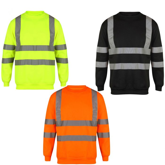 HI VIS VIZ SWEATSHIRT WITHOUT HOOD-Sweatshirt