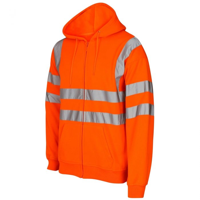 HI VIS VIZ ZIP HOODED SweatshirtHI VIS VIZ ZIP HOODED Sweatshirt Orange