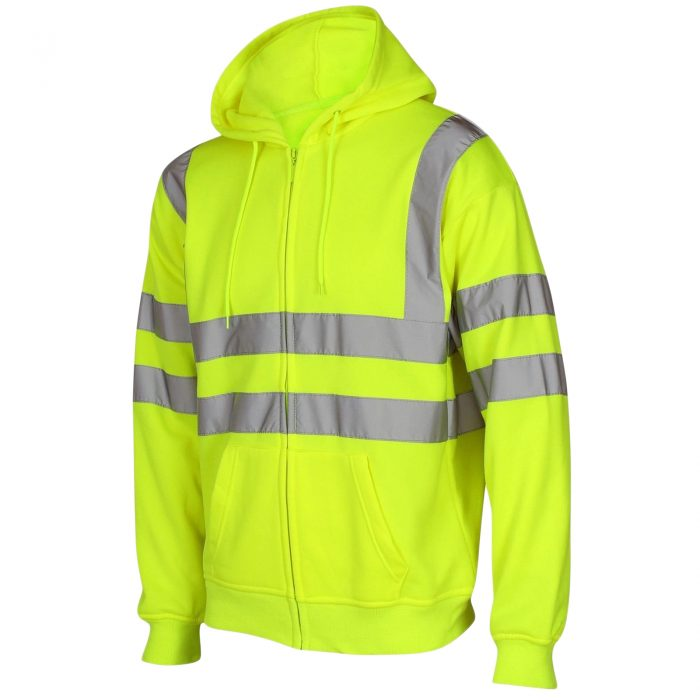 HI VIS VIZ ZIP HOODED SweatshirtHI VIS VIZ ZIP HOODED Sweatshirt Yellow