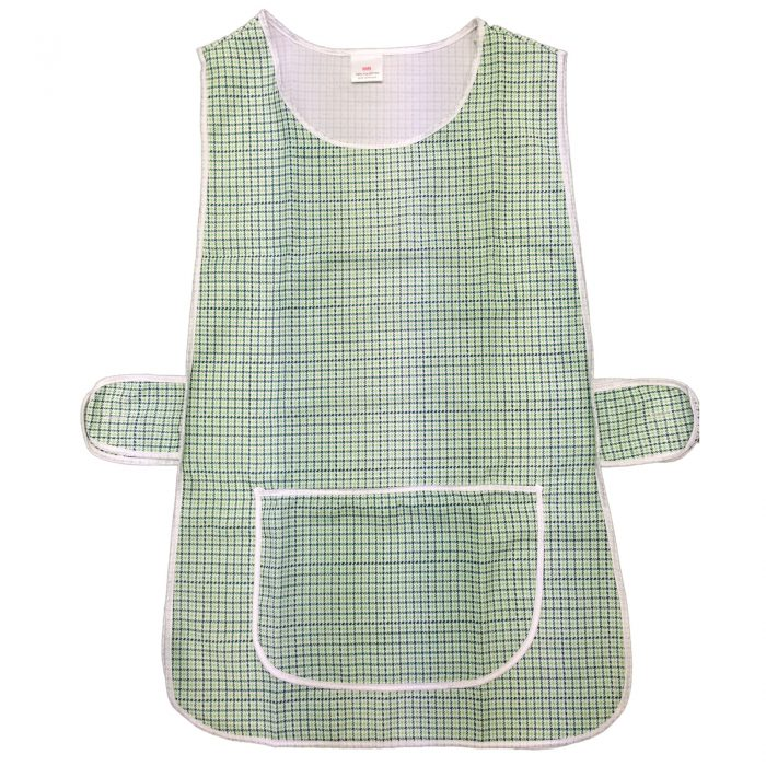 LADIES WOMEN TABARD APRON OVERALL KITCHEN CATERING CLEANING BAR PLUS SIZE POCKET-check-Tabbard Green