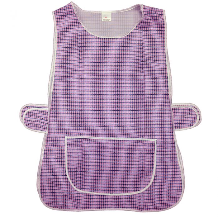 LADIES WOMEN TABARD APRON OVERALL KITCHEN CATERING CLEANING BAR PLUS SIZE POCKET-check-Tabbard Purple