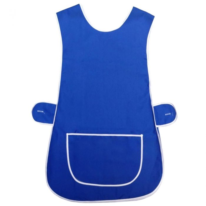 LADIES TABARD TABBARD APRON WITH POCKET PLUS SIZE BIG KITCHEN CLEANING CHEF-Plain-Tabbard Royal blue