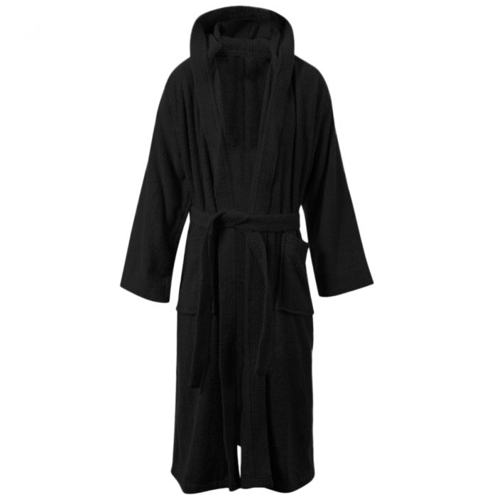 Terry Bath Robe Black