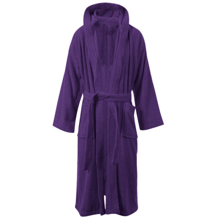 Terry Bath Robe Purple
