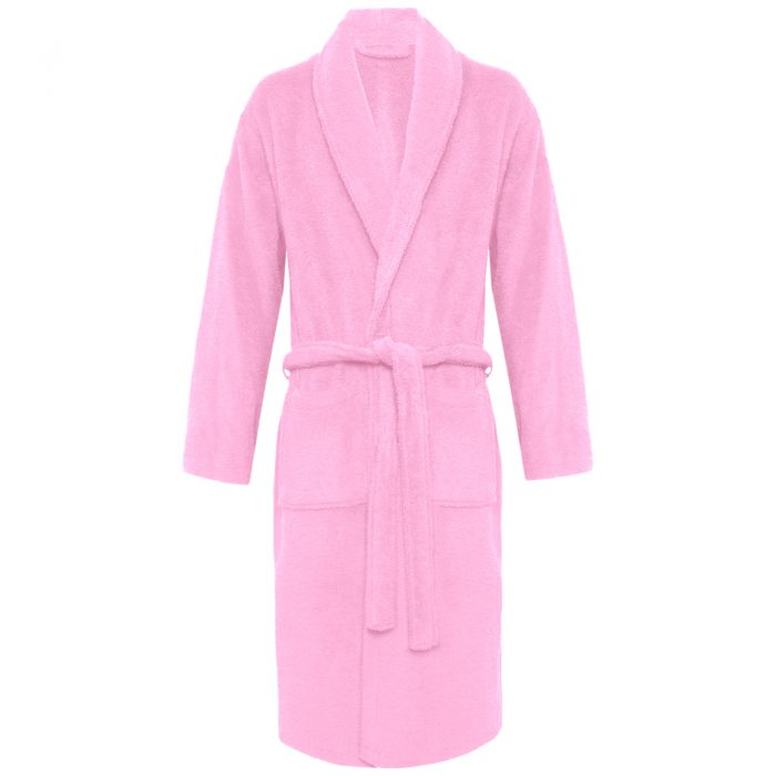 Terry Bath Robe Shawl PinkTerry Bath Robe Shawl Pink