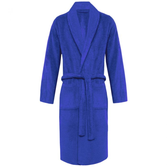 Terry Bath Robe Shawl Royal