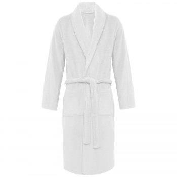 Terry Bath Robe Shawl White