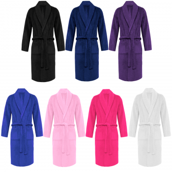 EGYPTIAN COTTON TERRY TOWEL SHAWL NECK BATH ROBE