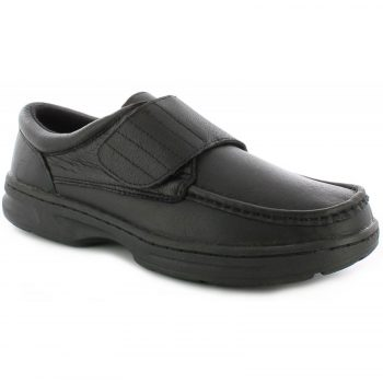 Dr Keller Mens Wide Fit Shoes TEXAS BLACK