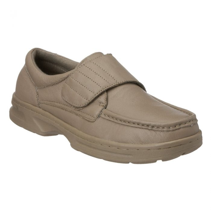 Dr Keller Mens Wide Fit Shoes-TEXAS-Taupe