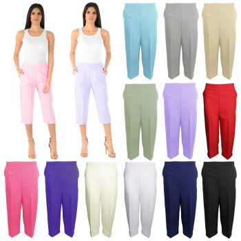 WOMEN'S 3/4 PLAIN LENGTH TROUSERS