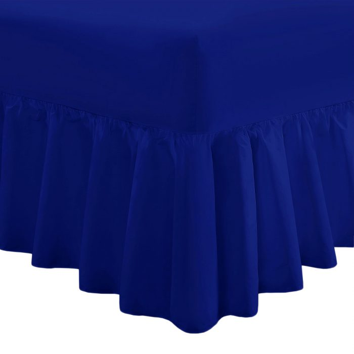 PLAIN DYED FITTED VALANCE BOX BED SHEET-Valance Sheet Royal