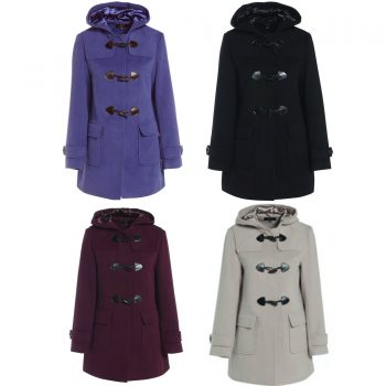 LADIES DUFFLE WOOL WINTER COAT