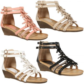 WOMEN'S SANDALS LADIES STRAPY GLADIATOR
