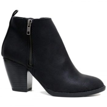 LADIES WIDE FIT ANKLE BOOTS