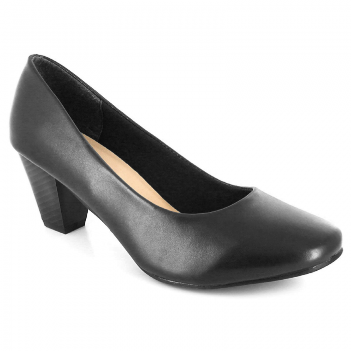 Women's court shoes-black-matt